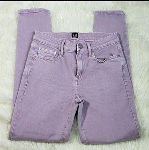 Gap True Skinny Lilac Jeans